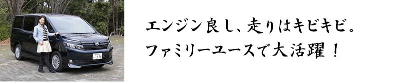 ヴォクシーハイブリッド評価プロ(今井優杏)