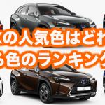 レクサス新型UXの人気色・カラーをランキング形式で発表!