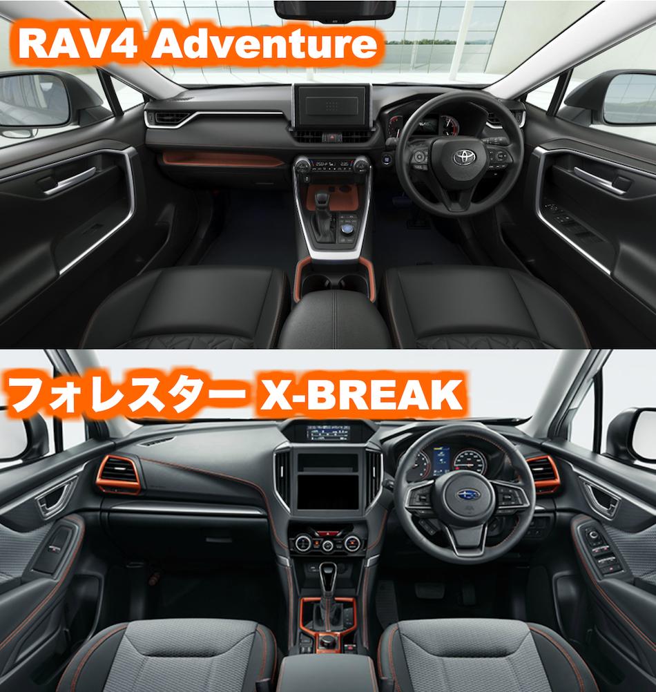 RAV4内装_アドベンチャーandXbreak